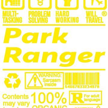 PARK RANGER SOLVE PROBLEMS DESIGN by kashikens