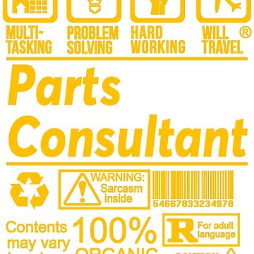 PARTS CONSULTANT SOLVE PROBLEMS DESIGN by kashikens