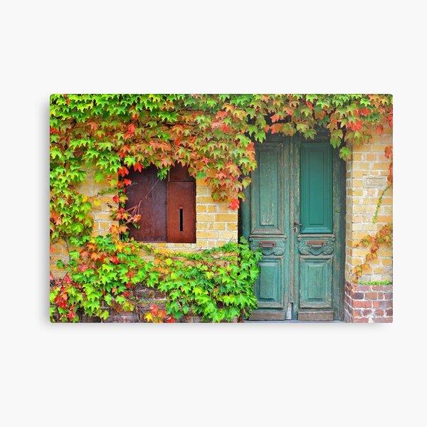 0030 Green door Metal Print