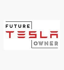 Future Tesla Owner Photographic Print