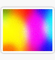 Colorful Mirrored 3D Background Sticker