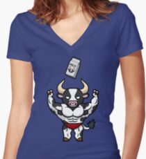 Frank the Fit Friesian Women's Fitted V-Neck T-Shirt