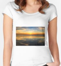 Cable Beach sunset reflection Women's Fitted Scoop T-Shirt