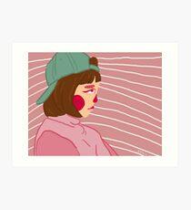 Low Key Sad Girl Art Print