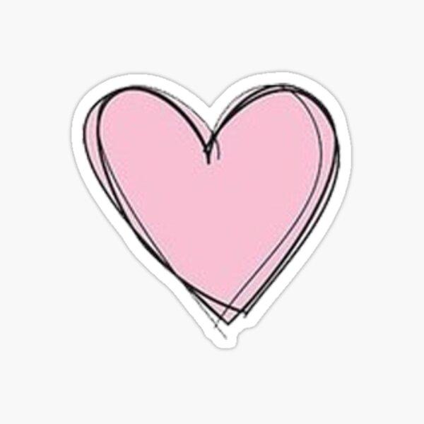 coeur rose Sticker