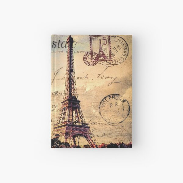 Vintage Paris-Carte Postale Hardcover Journal