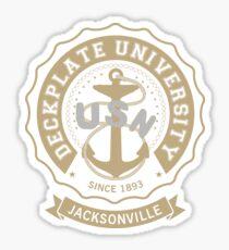 Deckplate University - Jacksonville Sticker