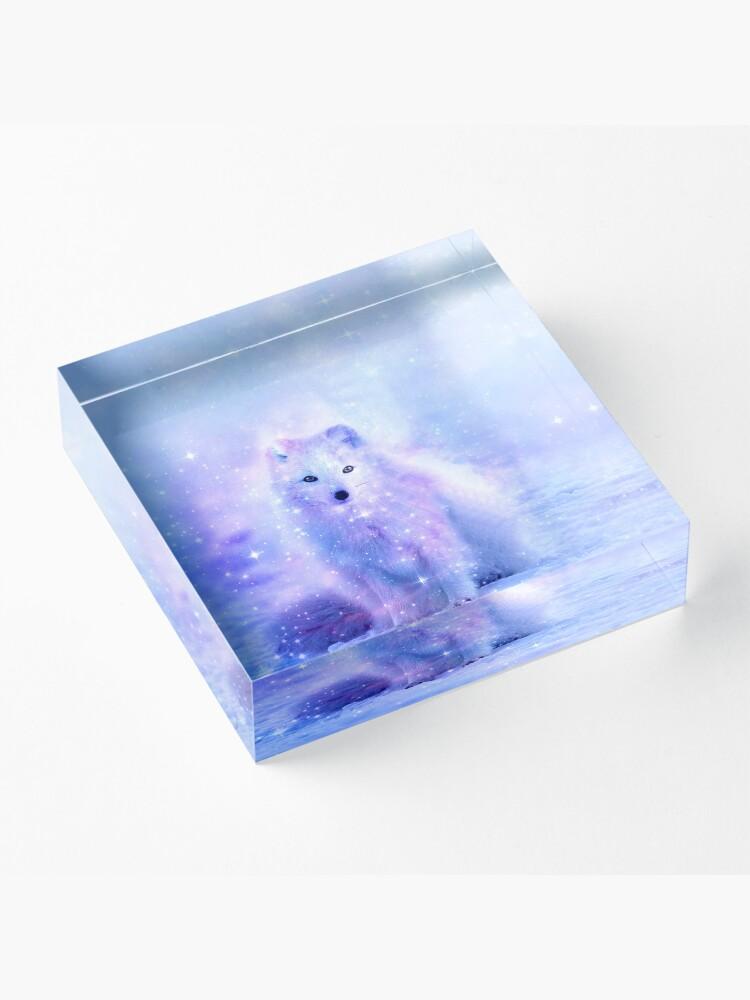 Alternative Ansicht von Arktischer Islandfuchs Acrylblock