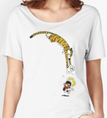 calvin hobbes Women's Relaxed Fit T-Shirt