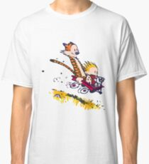 calvin and hobbes race Classic T-Shirt