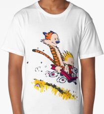 calvin and hobbes race Long T-Shirt