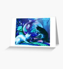 Kittens with Goldfishes Greeting Card