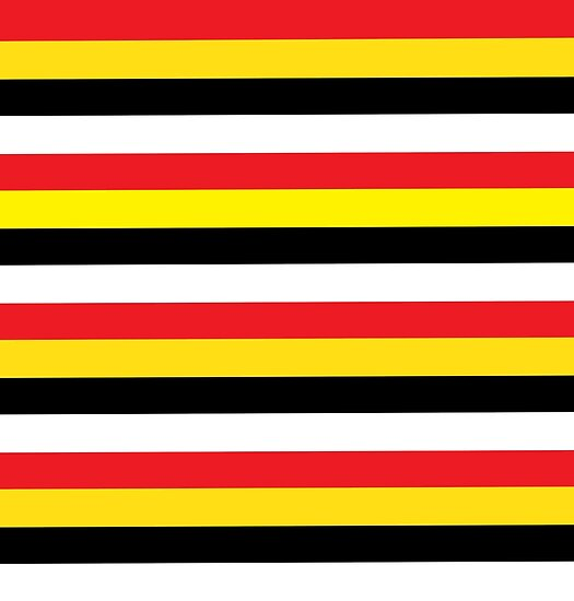 Quot Red Yellow Black Amp White Stripes Quot Poster By