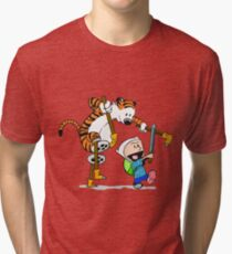 calvin and hobbes play Tri-blend T-Shirt
