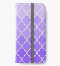 Vintage purple lilac classic Quatrefoil Pattern iPhone Wallet/Case/Skin
