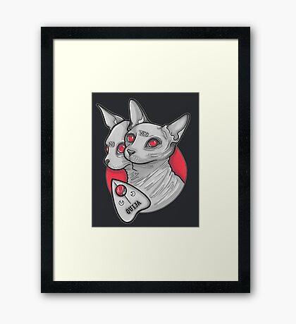 Ouija Cat Framed Print