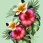 Summer Tropical Flowers by LoneAngel