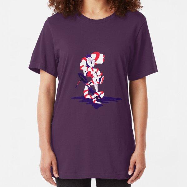 Illustrated BMX hero. Slim Fit T-Shirt