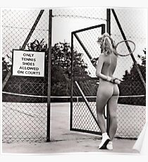 funny tennis court rules Poster