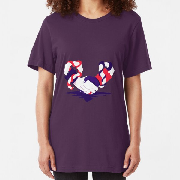 Love at first touch   Illustrated Slim Fit T-Shirt