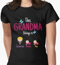 This Grandma belongs to Zachariah Amelia Ava Women's Fitted T-Shirt