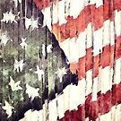 Patriotic American Flag Abstract by morningdance