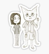 Cat Detective  Sticker