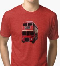 Iconic Red Routemaster Bus Tri-blend T-Shirt