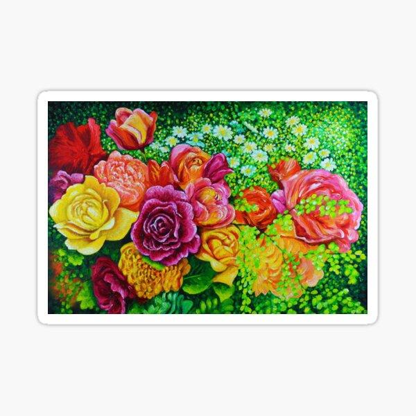 Red Roses  Brides Wedding Bouquet Sticker
