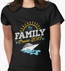 Family Cruise Vacation 2017 Womens Fitted T-Shirt