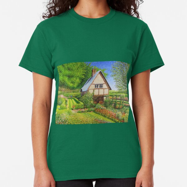 Spring Flowers in a English Cottage Garden  Classic T-Shirt