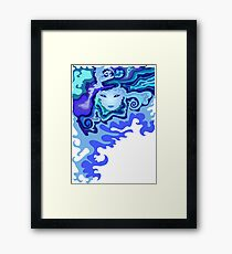 Illustration of a beautiful unusual abstract girl face Framed Print