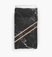 Black Marble & Rose Gold  Duvet Cover