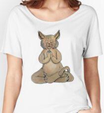 Gato Yogui Camiseta ancha para mujer