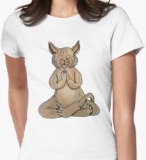 Gato Yogui Camiseta entallada para mujer