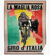 GIRO d ITALIA: Vintage Cycle Racing Advertising Print Poster