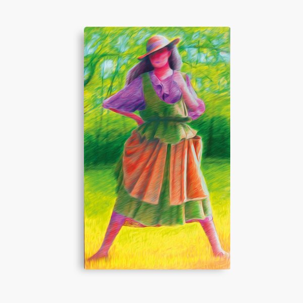 Summer Country Lady wearing Straw Hat  Canvas Print