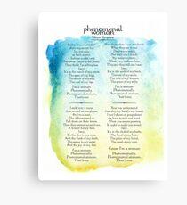 poem canvas prints redbubble