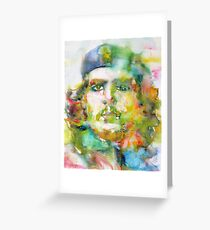 CHE GUEVARA - watercolor portrait.2 Greeting Card