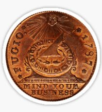 Fugio Cent Mind Your Business Sticker