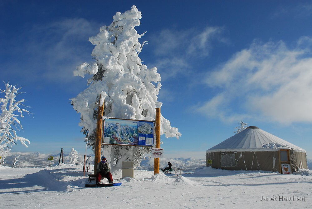 Top of Brundage Mountain Ski Resort by Janet Houlihan