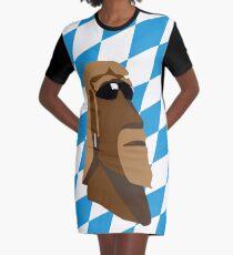 Bavarian Moai Rocker Graphic T-Shirt Dress