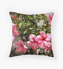 Summer in Pink Throw Pillow
