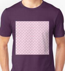 Girly pink white vintage stripes floral pattern T-Shirt