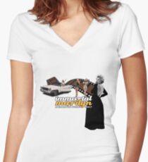 Immortal Marilyn Memorial Week 2017 Film Strip logo  Women's Fitted V-Neck T-Shirt