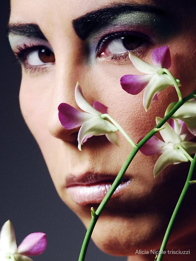 Violet Dendrobium  by Alicia Nicole trisciuzzi