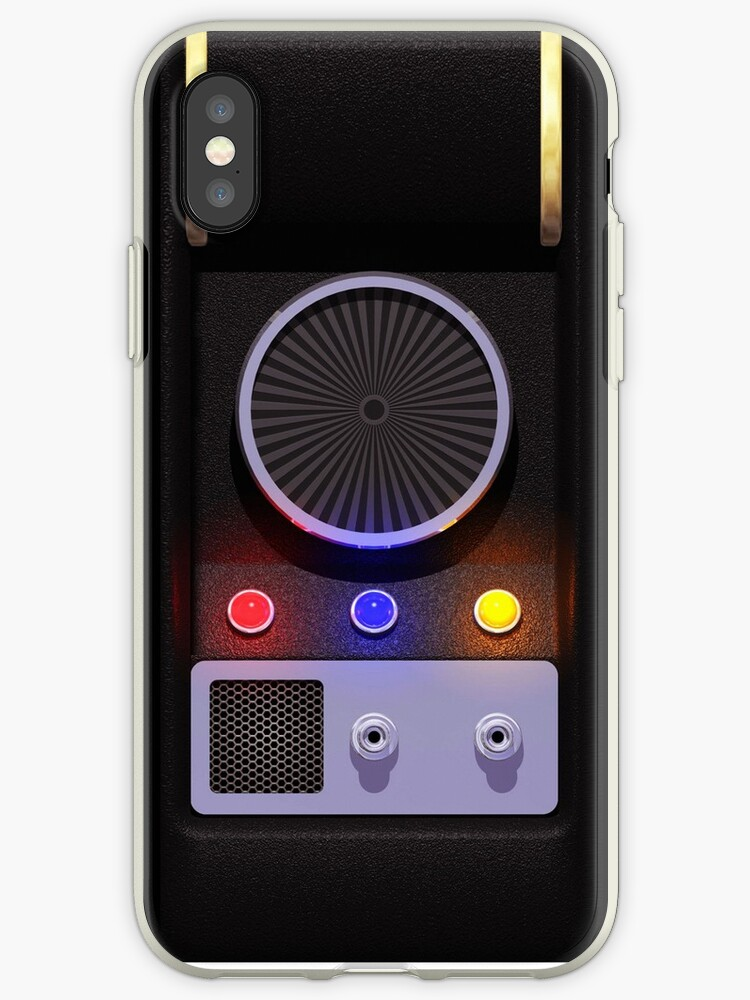 new arrival 92856 250ce 'star trek communicator' iPhone Case by halfabubble
