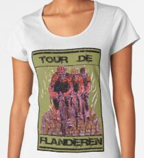 TOUR DE FLANDEREN: Vintage Bike Racing Advertising Print Women's Premium T-Shirt
