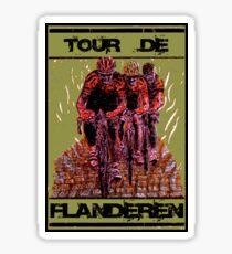 TOUR DE FLANDEREN: Vintage Bike Racing Advertising Print Sticker
