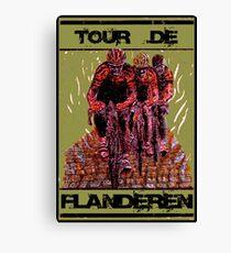 TOUR DE FLANDEREN: Vintage Bike Racing Advertising Print Canvas Print
